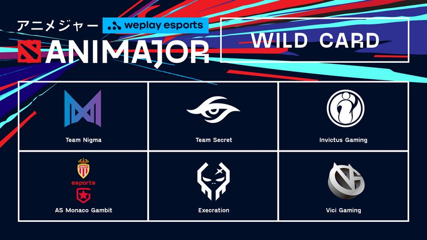 AniMajor visuals with teams from wild card