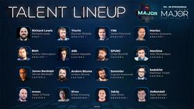 PGL Stockholm Major talent lineup