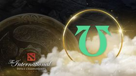 Team Undying logo with Ti10 and the Aegis on the background