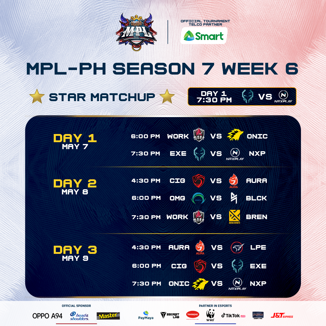 MPL - PH Week 6 Schedule
