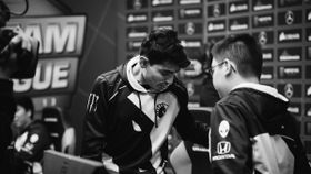 Team Liquid Dota 2 team after a loss