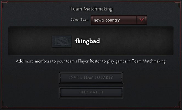 Matchmaking problem dota 2