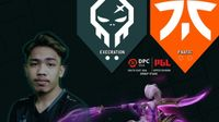 team banners and Yowe of  Execration looking straight forward