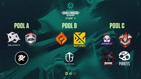 Logos of teams in VCT Challengers 2