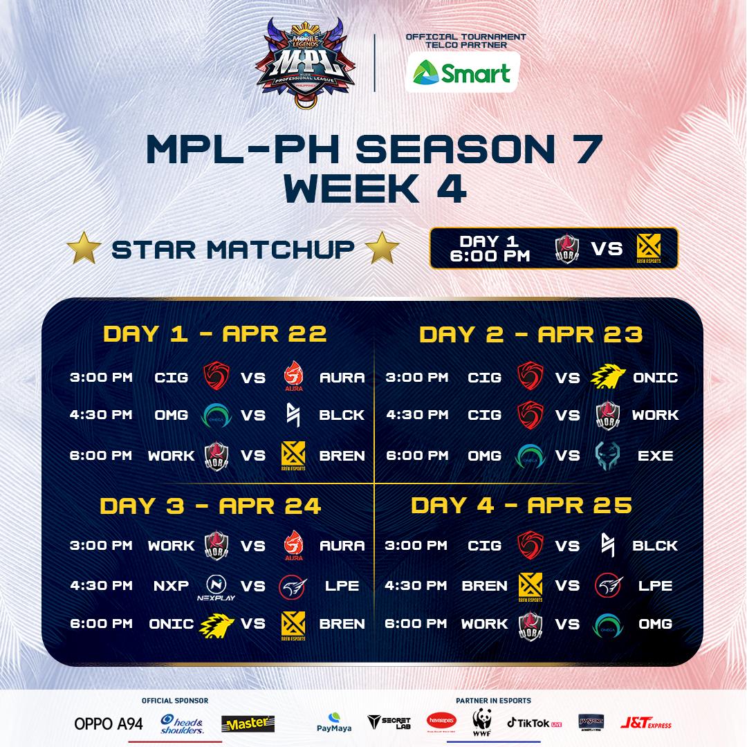 MPL - PH Season 7 Week 4 Schedule