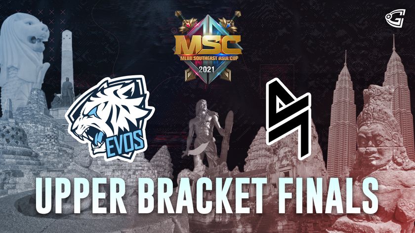 Upper bracket finals MSC team logos