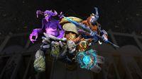 Dota 2 heroes Bane, Tiny, Elder Titan and Magnus