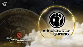Invictus Gaming logo with  the Aegis on the left side