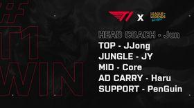T1 Wild Rift team roster
