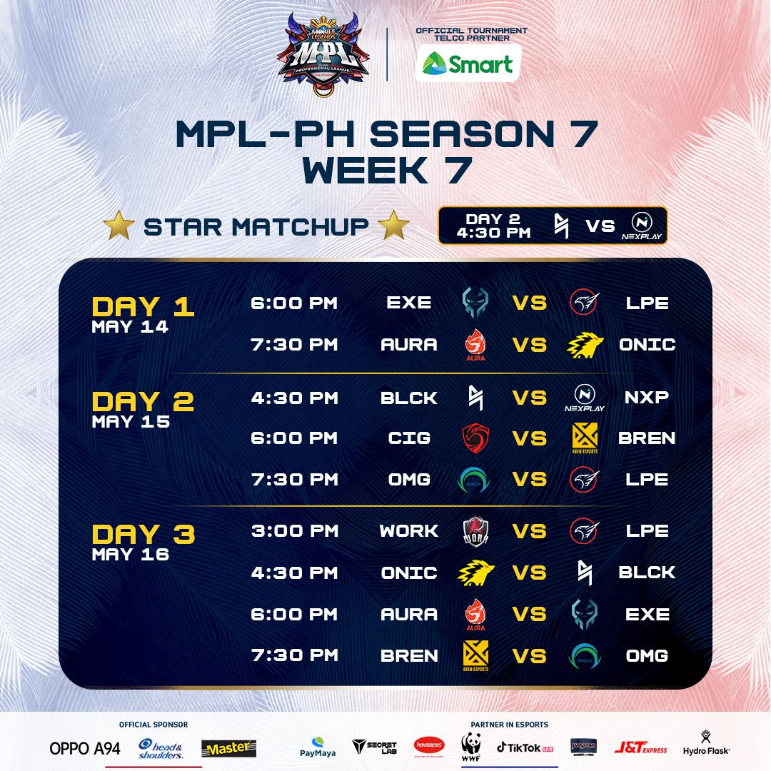 MPL PH Season 7 Week 7 full schedule