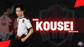 Kousei Work Auster Force posing next to highlighted player name