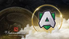 Alliance team logo with the Aegis and TI visuals behind