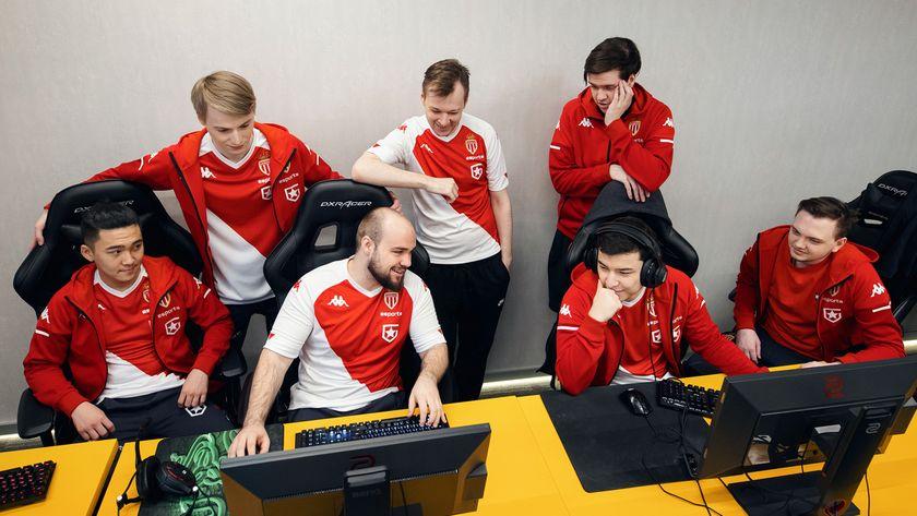 AS Monaco Gambit Dota 2 team sitting at their computers