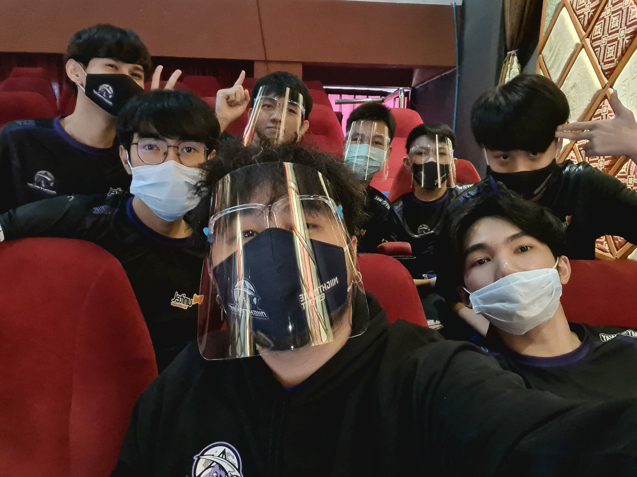 Niightmare Esports players with masks on