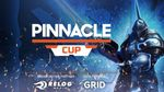 bannner showing Dota 2 hero Sven with Pinnacle Cup in writing