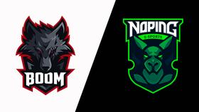 Boom and No Ping Esports logos