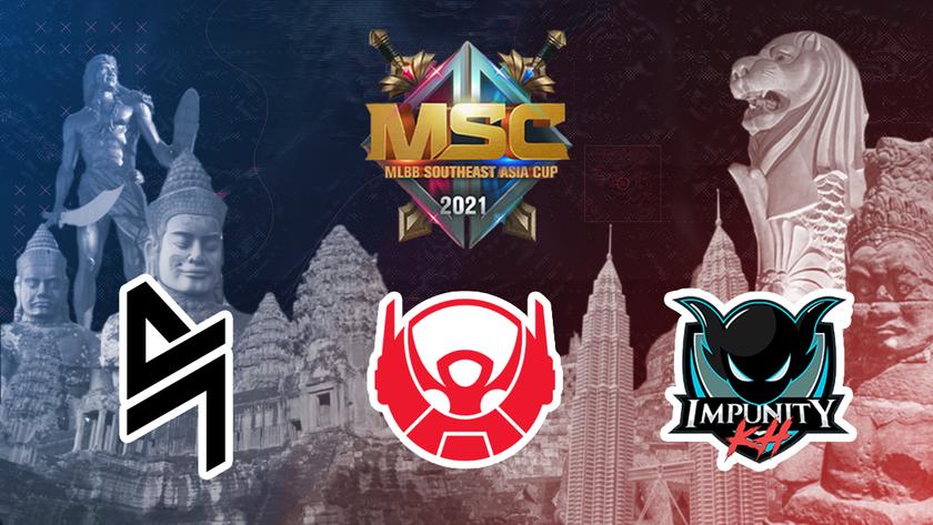 MSC 2021 Group C team logos