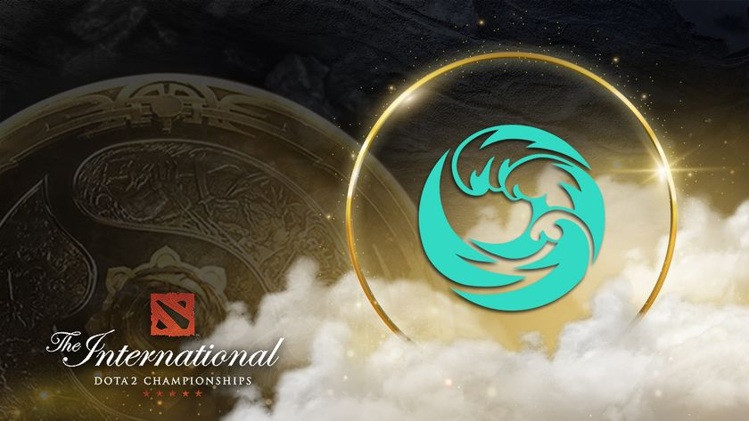 beastcoast crest with TI10 logo and the Aegis in the background