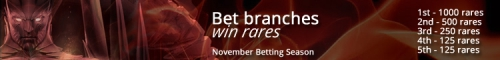 November betting season - 2,000 rares to be won!