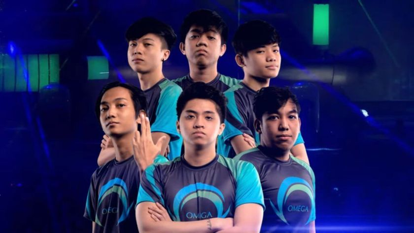 Omega Esports six players with arms crossed