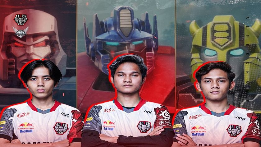 Alter Ego players with Transformers behind them
