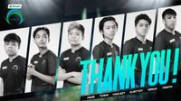 """Omega Esports MLBB roster with """"Thank you"""" written across"""