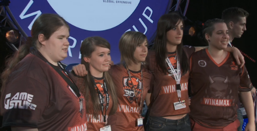 3DMAX ladies win the ESWC Female 2014 title
