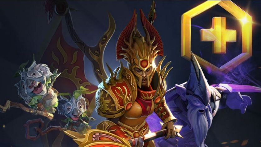 Dota 2 heroes Legion Commander and Dark Seer along with a courier