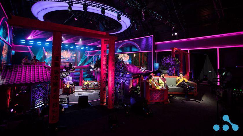 stage setup at WePlay AniMajor