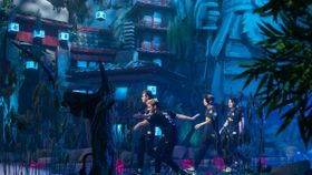 Team Spirit making a Naruto impression on Animajor stage