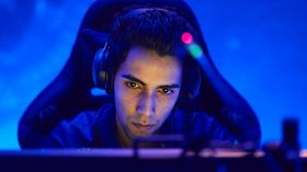 SumaiL looking into the monitor