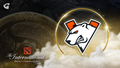 Virts.pro logo with the Aegis behind and The International logo