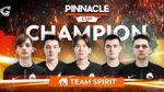 Team Spirit champions of Pinnacle Cup