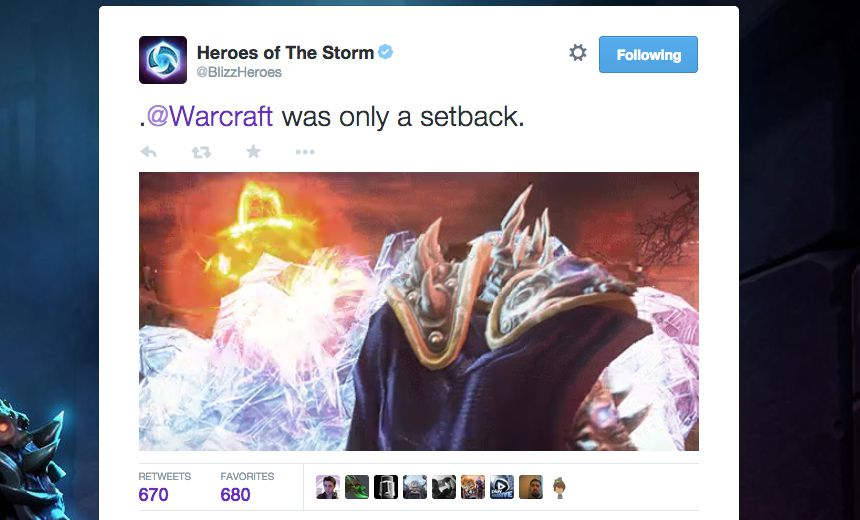Kael'Thas cinematic teased on official Heroes Twitter