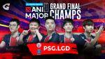 PSG.LGD posing as champions of WePlay AniMajor