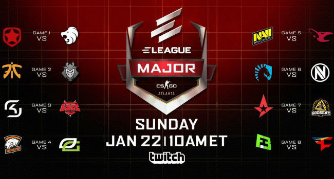 Eleague Major Teams