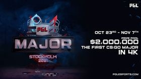 First CS:GO Major in 2021 scheduled for October