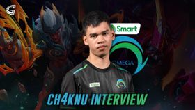 ch4knu of Smart Omega Esports with MLBB heroes Grock and Khufra