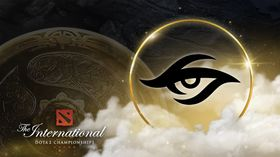Team Secret logo with the Aegis and TI assets