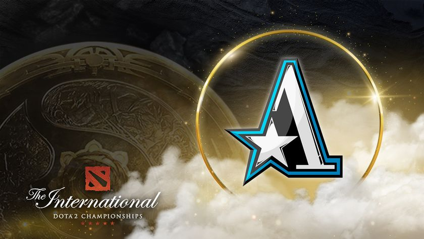 Team Aster logo with the Aegis of Immortals behind and TI10 logo