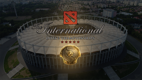 National Arena from Bucharest, Romania with The International logo