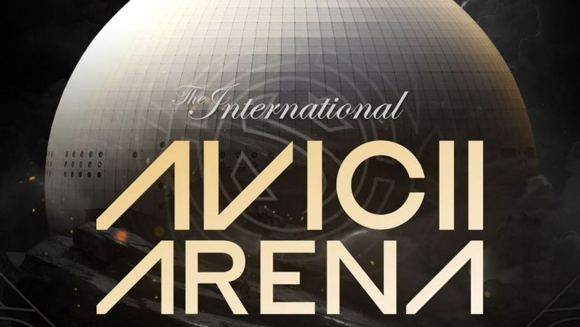 Avicii Arena from Stockholm with The International 10 logo